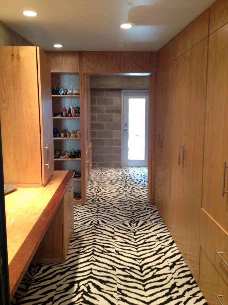 Master Closet with Zebra FLOR tiles 2