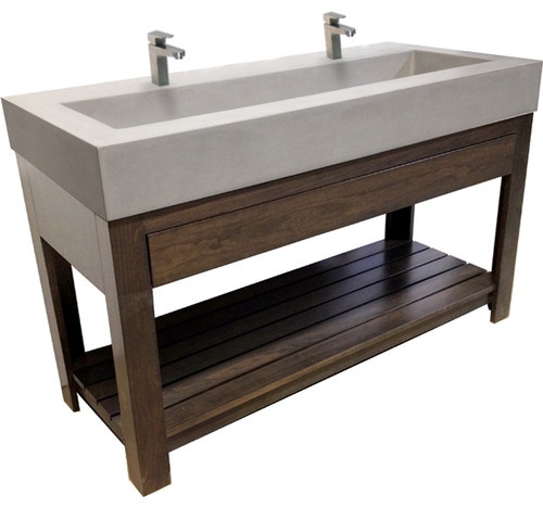 ... Sink With Double Stainless Trough Sinks Bathroom. Cardkeeper.co